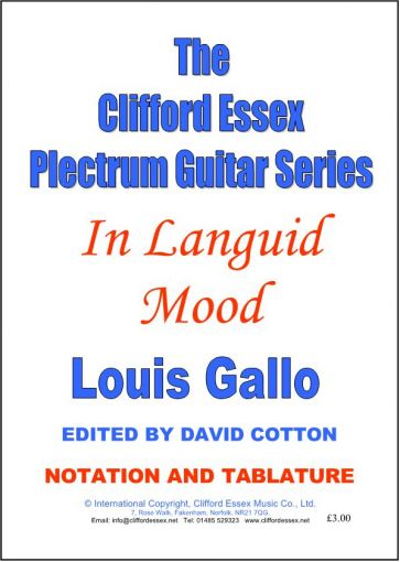 IN LANGUID MOOD. A TRIBUTE TO EDDIE LANG. BY LOUIS GALLO.