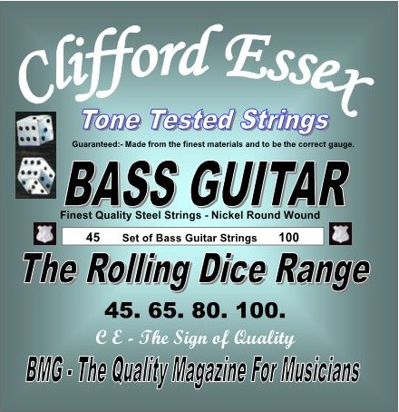 ELECTRIC BASS GUITAR. ROLLING DICE RANGE.