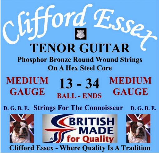 TENOR GUITAR STRINGS. MEDIUM GAUGE. FOR D. G. B. E. OR C. G. B. D. OR D. G. B. D. TUNING. BALL-ENDS OR LOOP-ENDS.