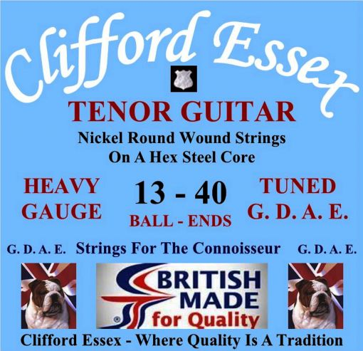 TENOR GUITAR STRINGS. HEAVY GAUGE. FOR G. D. A. E. TUNING. BALL-ENDS OR LOOP-ENDS.