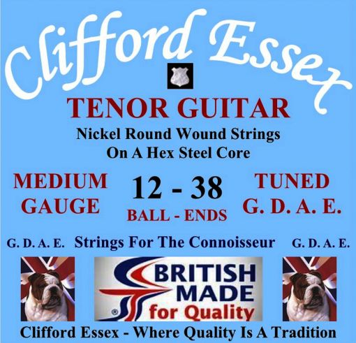 TENOR GUITAR STRINGS. MEDIUM GAUGE. FOR G. D. A. E. TUNING. BALL-ENDS OR LOOP-ENDS.
