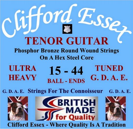 TENOR GUITAR STRINGS. ULTRA HEAVY GAUGE. FOR G. D. A. E. TUNING. BALL-ENDS OR LOOP-ENDS.