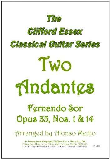 TWO ANDANTES BY FERNANDO SOR. OPUS 35, NUMBERS 1 & 14.