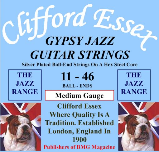 GYPSY JAZZ GUITAR STRINGS. MEDIUM GAUGE. 11 - 46.
