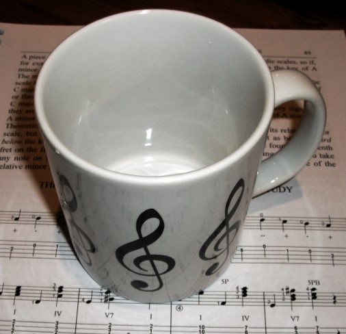 VIENNA WORLD MUG. A NOVELTY GIFT FOR MUSICIANS.