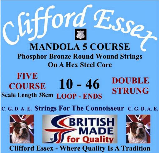 MANDOLA. 5 COURSE. 10 - 46. LOOP-ENDS OR BALL-ENDS.
