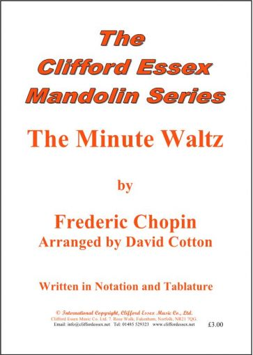MINUTE WALTZ BY FREDERIC CHOPIN. ARRANGED BY DAVID COTTON.