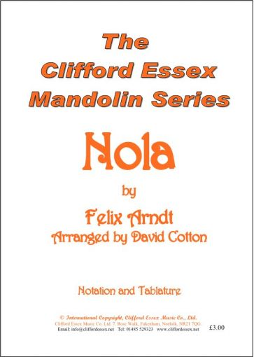 NOLA BY FELIX ARNDT ARRANGED BY DAVID COTTON.