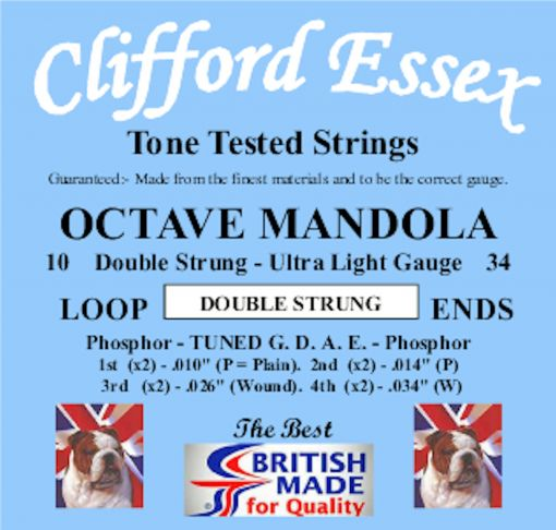 OCTAVE MANDOLA ULTRA LIGHT GAUGE. DOUBLE STRUNG. 10 - 34.