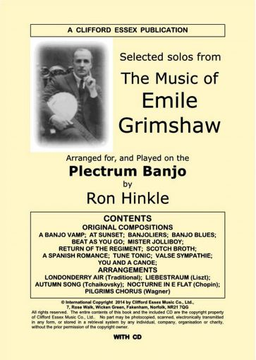 AN ALBUM OF SELECTED SOLOS FROM THE MUSIC OF EMILE GRIMSHAW. COMPLETE WITH CD.
