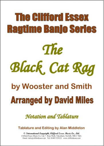 THE BLACK CAT RAG BY WOOSTER & SMITH. ARR DAVID MILES M.B.E.