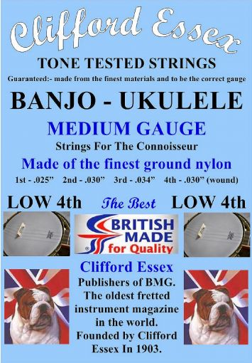 UKULELE-BANJO MEDIUM GAUGE WITH A LOW G.