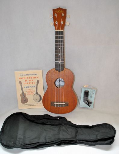 ARIA AU-9K SOPRANO UKULELE WITH ACCESSORIES. A COMPLETE PACKAGE.