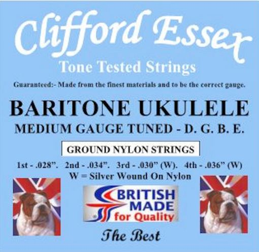 BARITONE UKULELE. MEDIUM GAUGE. D.G.B.E. GROUND NYLON. HIGH QUALITY STRINGS.