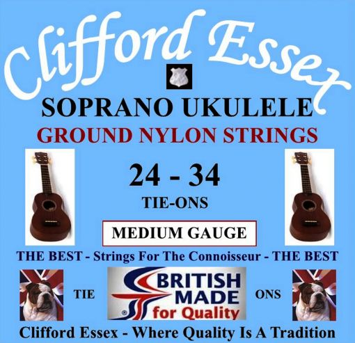 SOPRANO UKULELE. MEDIUM GAUGE. GROUND NYLON TIE-ON.