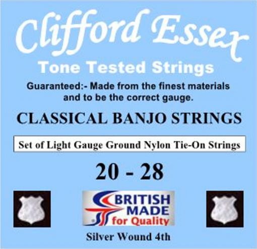 CLASSICAL BANJO STRINGS. LIGHT GAUGE. TIE-ON. 20 - 28.
